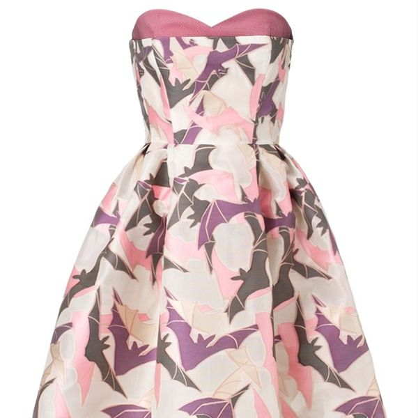 Giles Multi Strapless Bat Gazar Dress