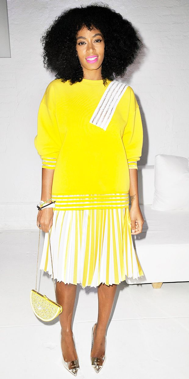 Solange Knowles' Not-So-Mellow-Yellow Style