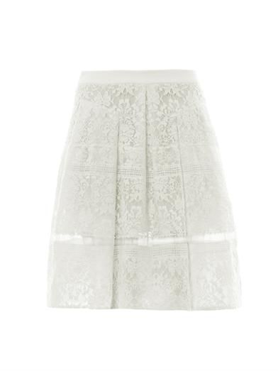 Rebecca Taylor Lace A-line Skirt