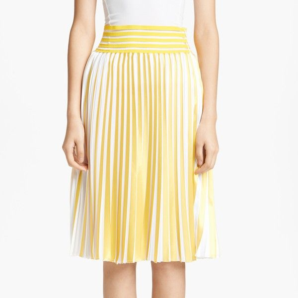 Christopher Kane Print Knife Pleated Skirt