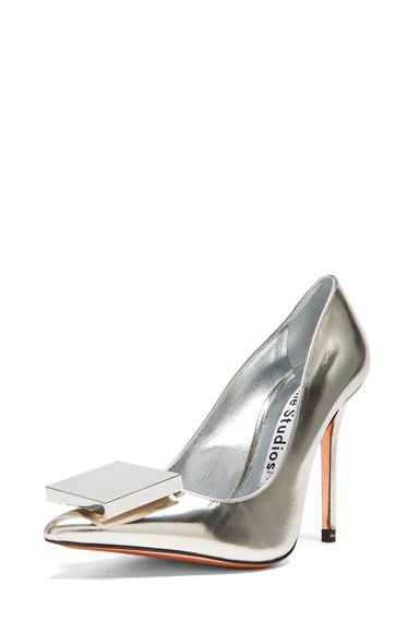 Acne Studios Alivia Metallic Leather Pumps