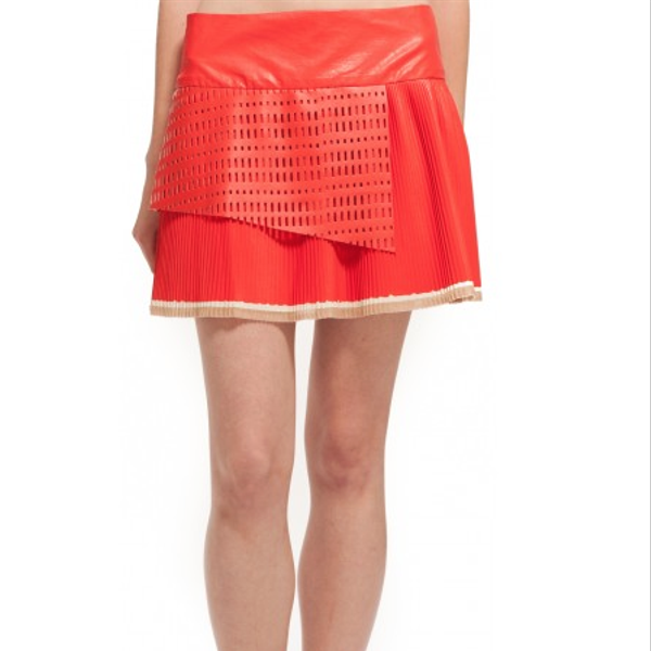 Suno Pleated Mini Skirt