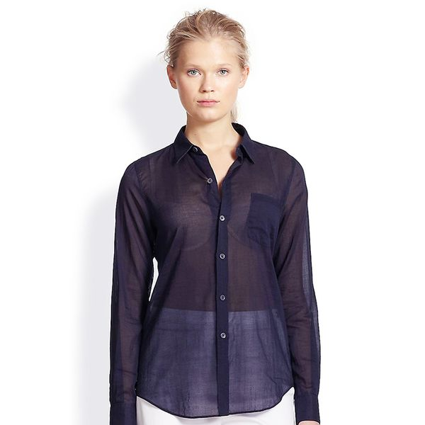 Theory Sheer Cotton Voile Shirt