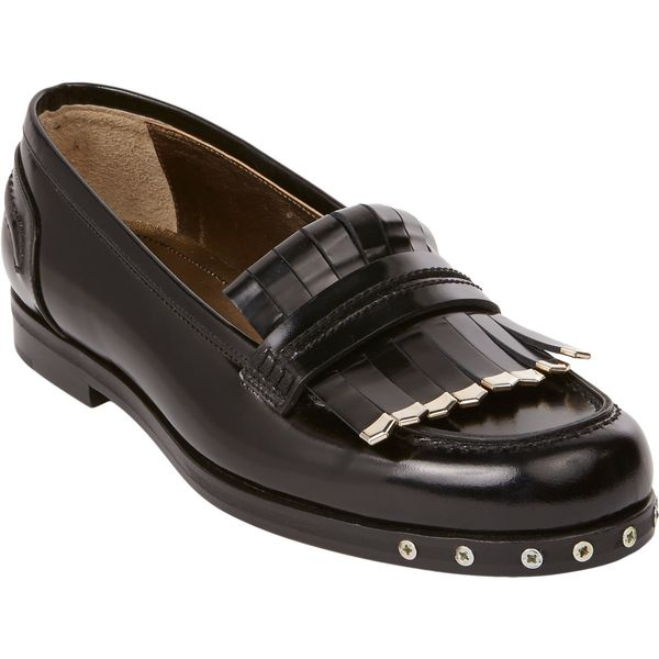 Lanvin Metal-Trim Kiltie Loafers