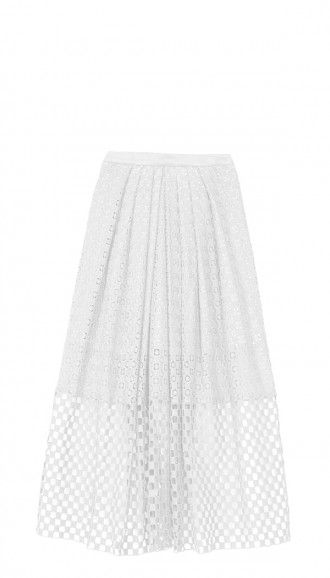 Tibi Sonoran Eyelet Full Skirt