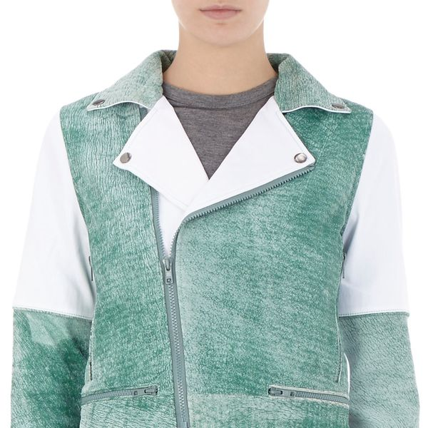 Timo Weiland Colorblock Biker Jacket