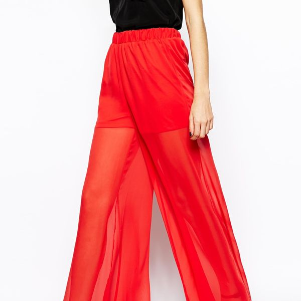 ASOS Sheer Wide Leg Pants