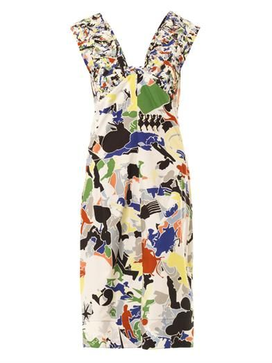 Jil Sander Fractured-Print Cotton Dress
