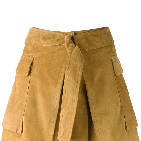 Alexander McQueen Belted Suede Skirt