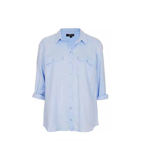 Topshop Casual Chambray Shirt