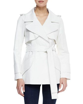 Yoana Baraschi Blue Trench Coat