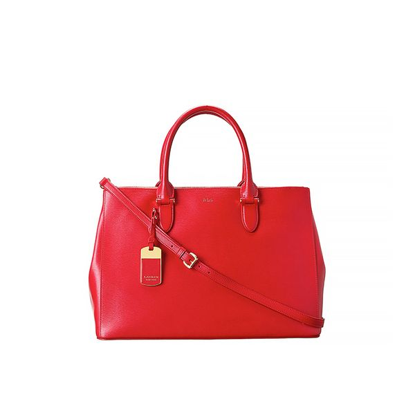 Lauren by Ralph Lauren Newbury Double Zip Satchel