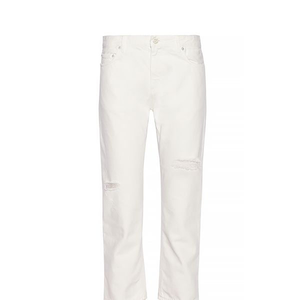 Acne Studios Pop Trash Cropped Distressed Boyfriend Jeans