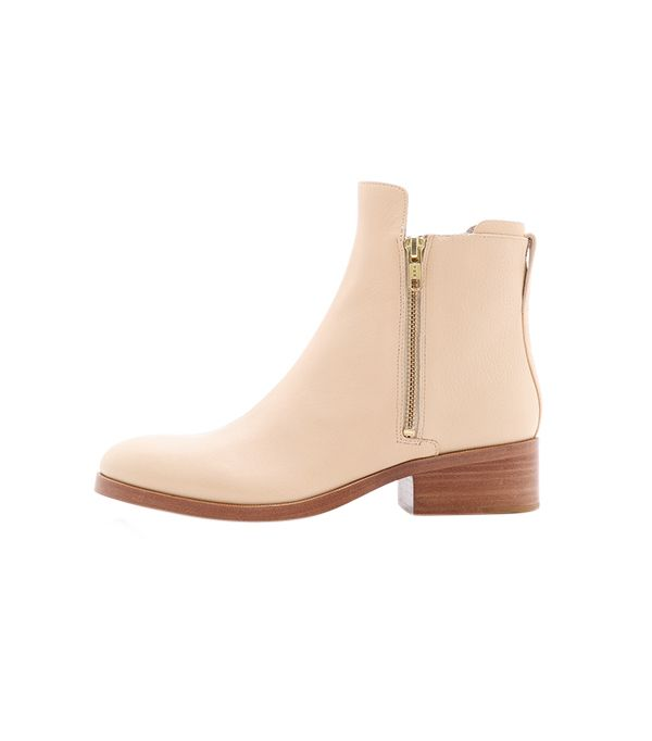 3.1 Phillip Lim Alexa Zip Booties ($525) in Buff