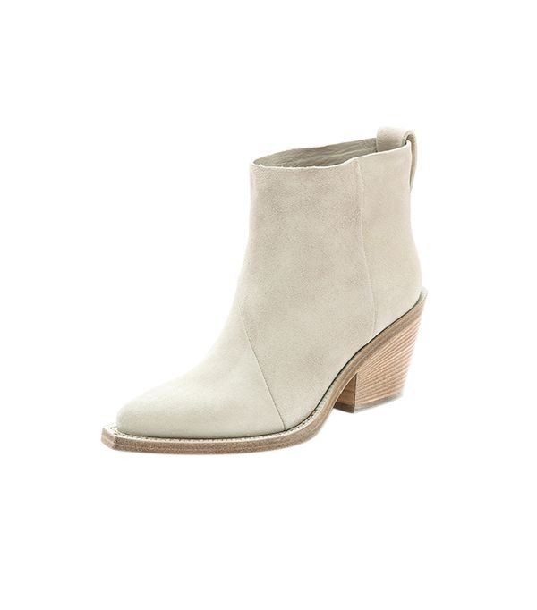Acne Studios Donna Suede Boots ($610) in White