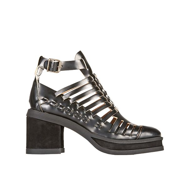 Purified Patricia Woven Leather Ankle Boots