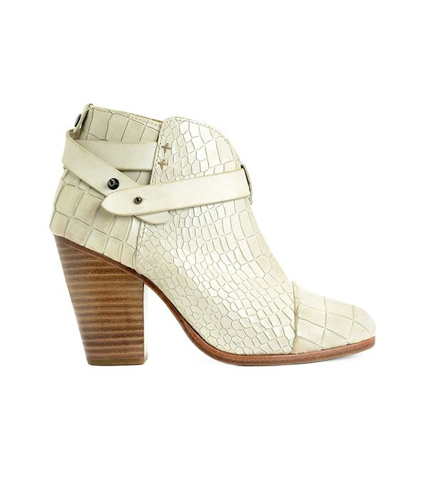 Rag & Bone Harrow Boot ($550) in White Crocco