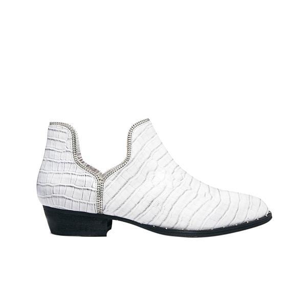 Senso Brigette Cement Croc Print Ankle Boots