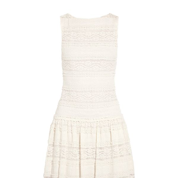 Alice + Olivia Chap Cotton-Blend Lace Dress