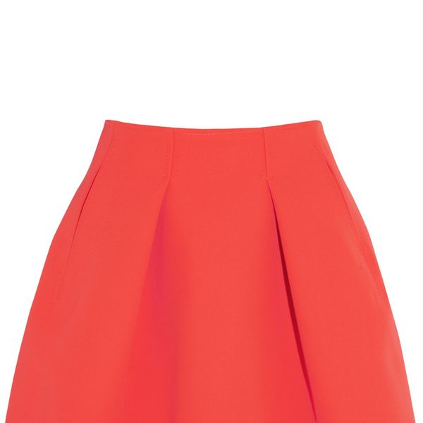 Kenzo Pleated Neon Neoprene Mini Skirt