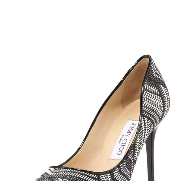 Jimmy Choo Abel Woven Point-Toe Pumps