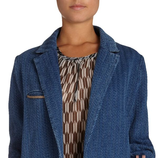 Etoile Isabel Marant Fara Raw Edge Denim Coat