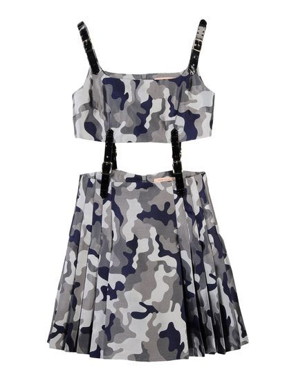 Christopher Kane Camouflage Short Dress