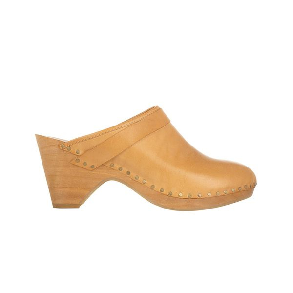 Isabel Marant Towson Leather and Wooden Clogs