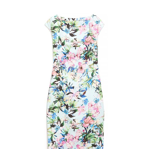 Zara Boat Neck Printed Dress