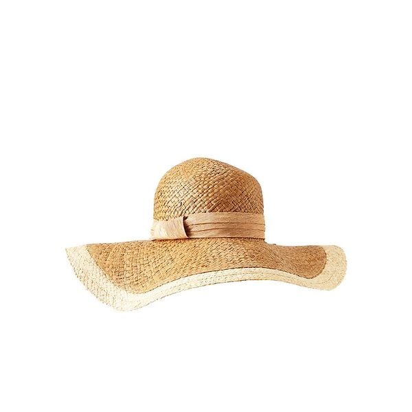 Gap Border Stripe Floppy Straw Hat