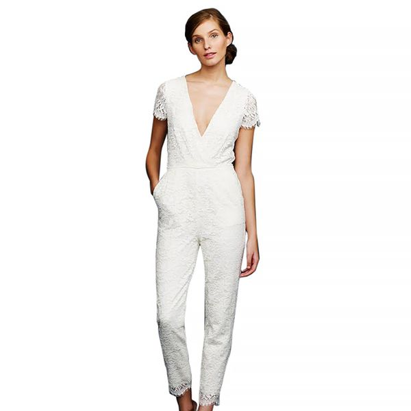 J.Crew Eyelash Lace Jumpsuit