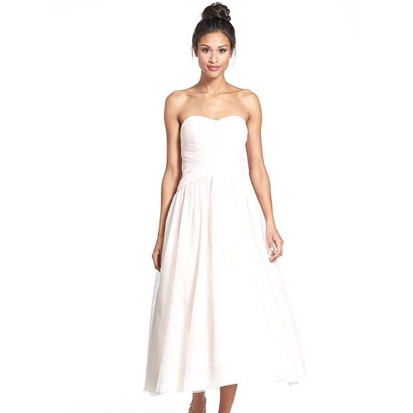 ML Monique Lhuillier Tulle Tea-Length Dress