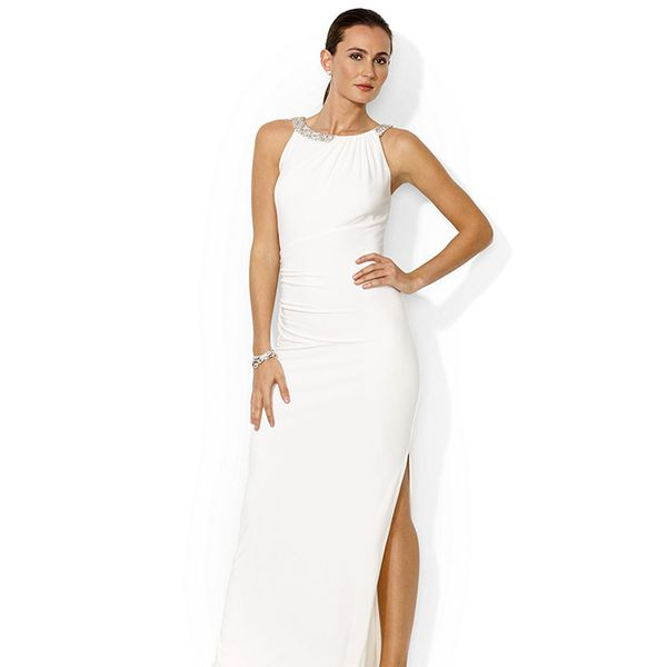 Lauren Ralph Lauren Sleeveless Beaded Gown