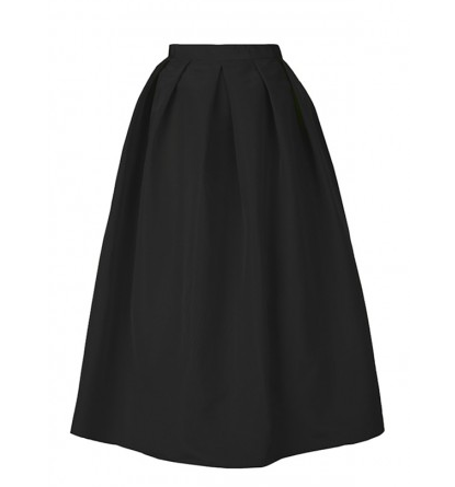 Tibi Silk Faille Full Skirt
