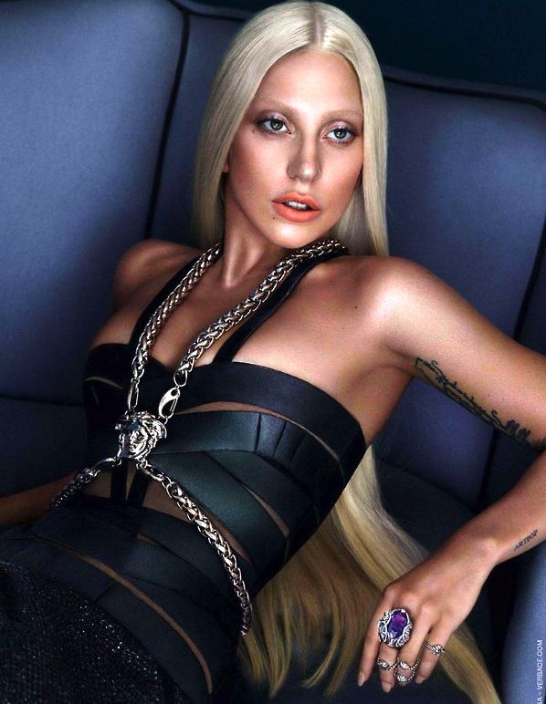 Lady Gaga For Versace S/S 2014
