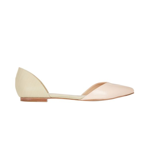 3.1 Phillip Lim Devon Patent-Leather Point-Toe Flats