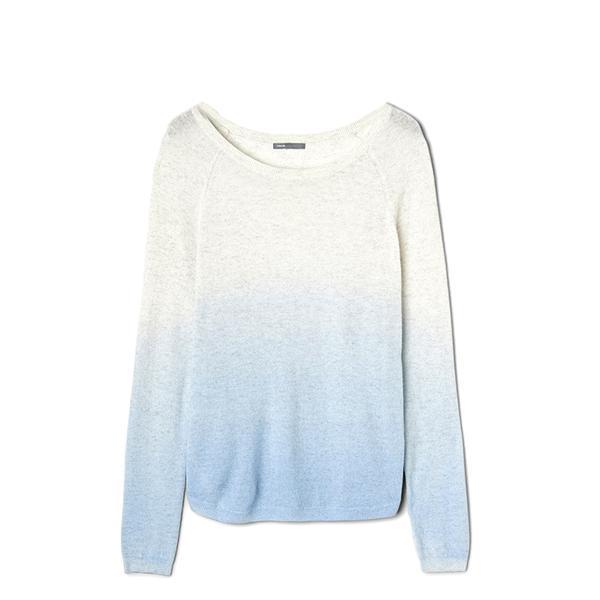 Vince Dip Dye Cashmere Raglan Boatneck Sweater