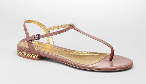 Bottega Veneta Patent-Leather Sandals