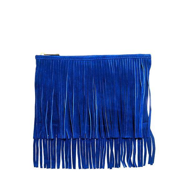 ASOS Suede Fringe Clutch Bag