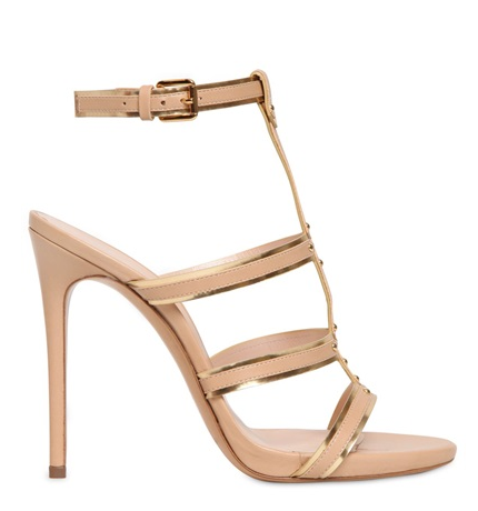 Casadei Leather Cage Sandals