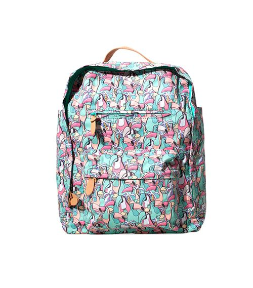 Zara Printed Backpack ($36)