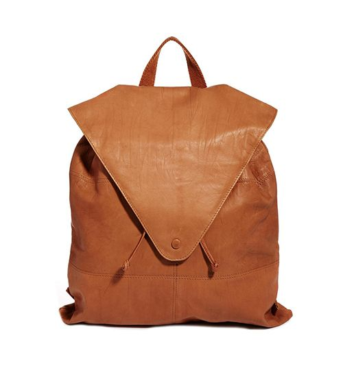 ASOS Leather Backpack With Pointed Flap ($103)