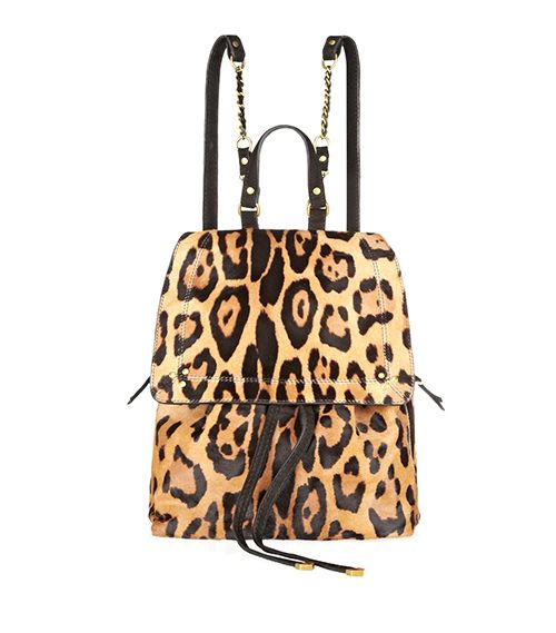 Jerome Dreyfuss Florent Leopard-Print Calf Hair Backpack
