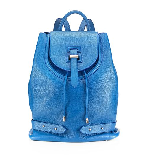 """Meli Melo Blue Cervo Thela Backpack ($835)  We guarantee this radiantly-blue backpack will evoke """"where'd you get that"""" on more than one occasion."""