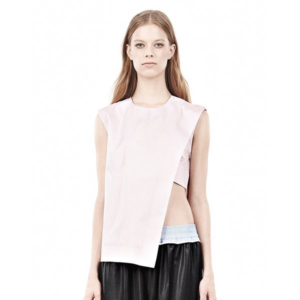 Alexander Wang Asymmetric Muscle Tank With Hidden Bra