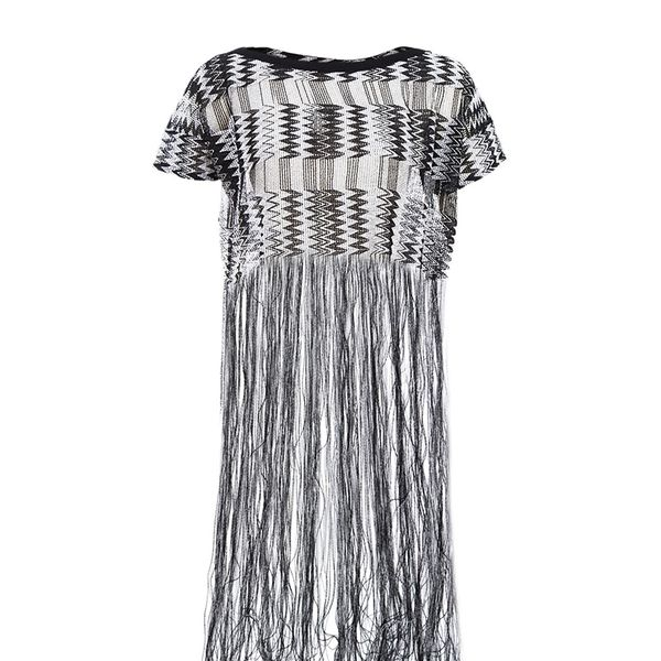 Missoni Short Sleeve Fringe Top