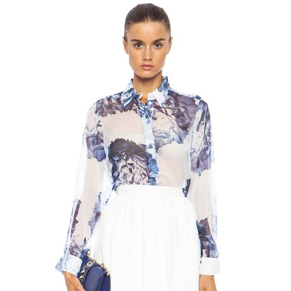 Lover Full Bloom Floaty Silk Shirt