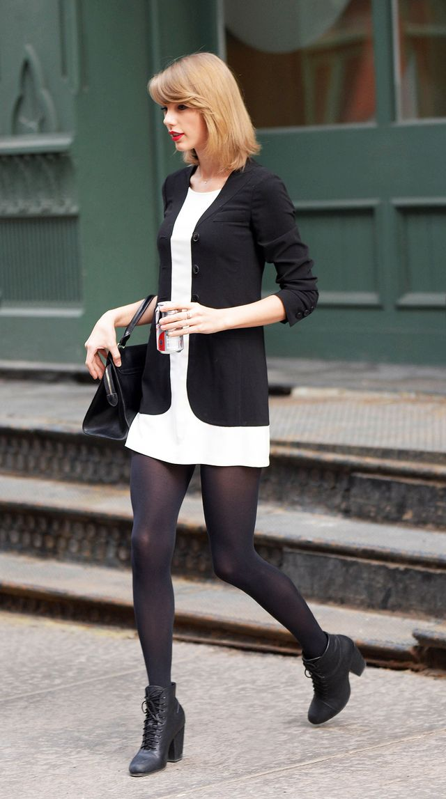 Day 7: Relaxed Jacket + White Dress + Black Booties