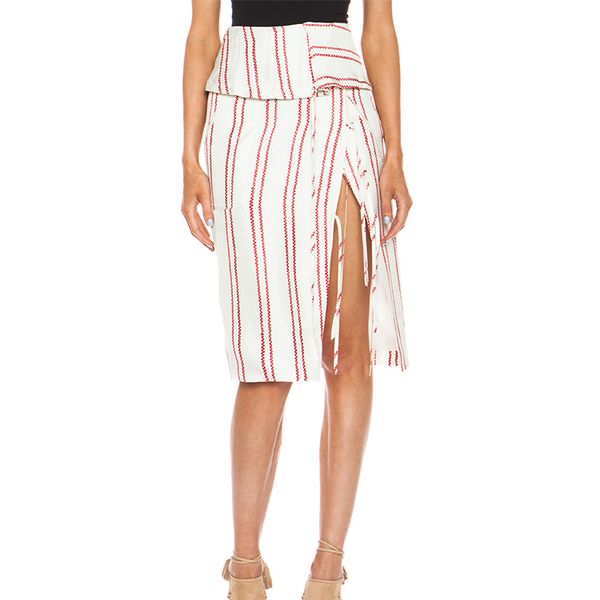 Altuzarra Obi Foldover Cotton-Blend Skirt