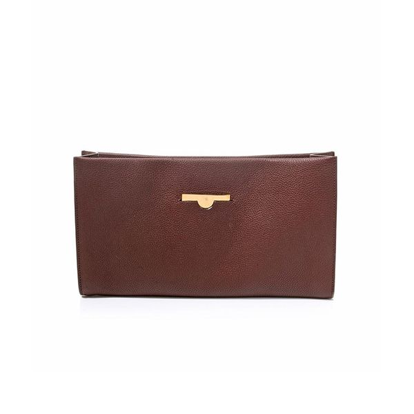 The Row Wrap Leather Clutch